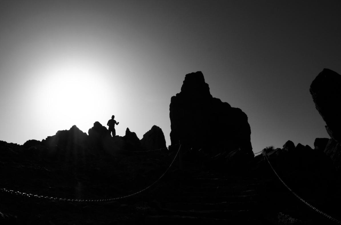 Roques de Garcia-Sonnenuntergang