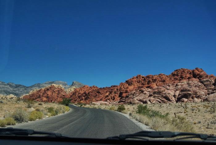 Straße-Red-Rock-Canyon