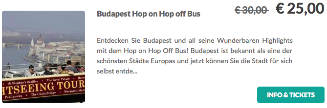 Budapest Hop On:Hop Off Tour