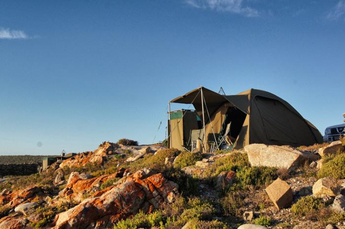 Campen-in-Südafrika-Namaqualand National Park-Südafrika