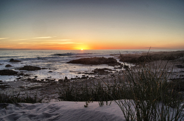 Küste-Sonnenuntergang-Namaqualand National Park-Südafrika