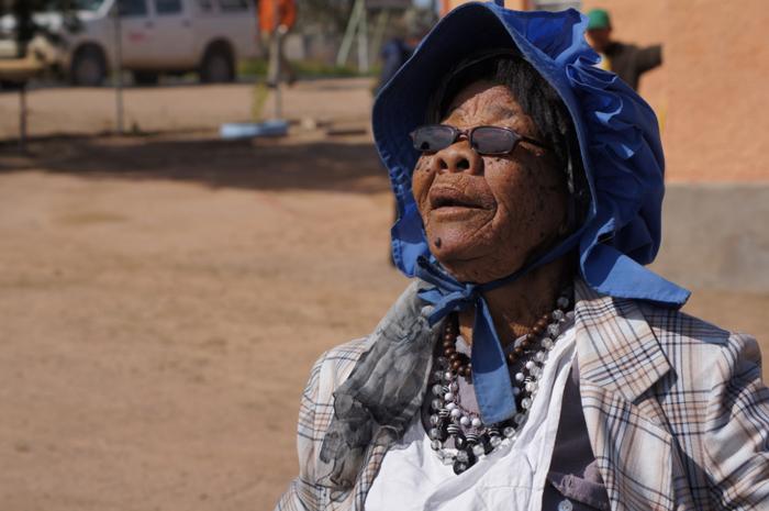 Südafrika-Kharkams-Einwohnerin