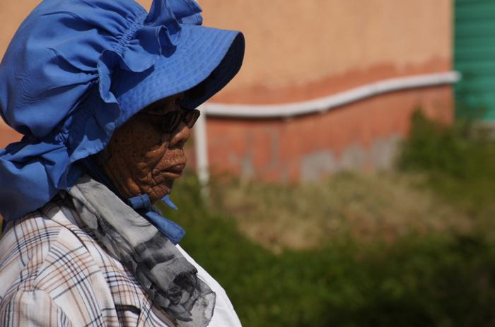 Südafrika-Kharkams-Frau