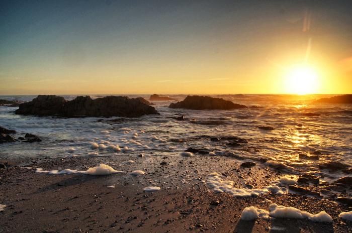 Sonnenuntergang-Namaqualand National Park-Südafrika