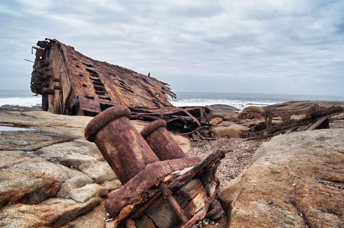 Safari-Südafrika-Schiffswracks