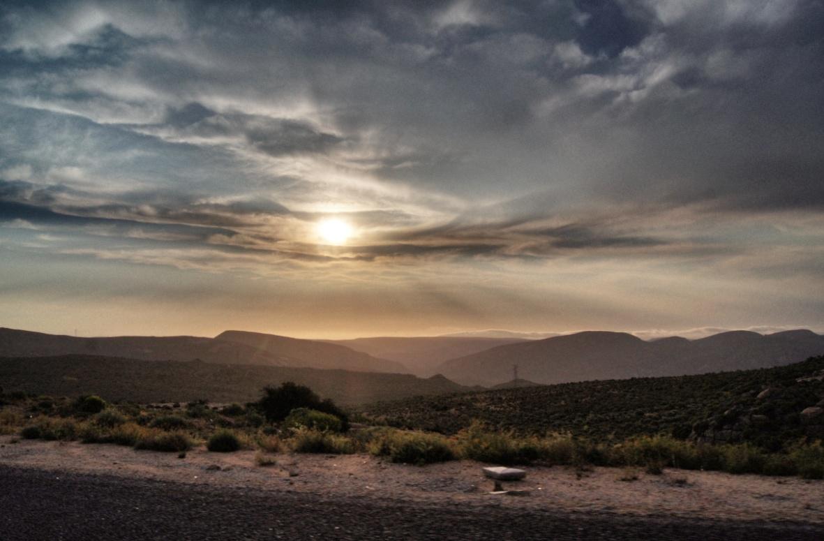 Sonnenuntergang-SSüdafrika Safari
