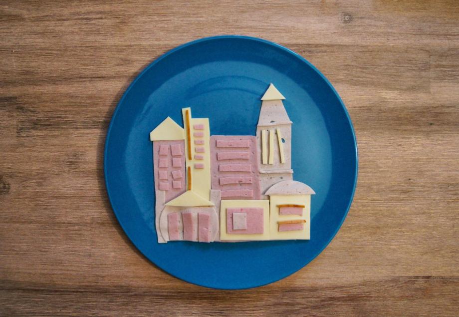 Wurst und Käse Skyline