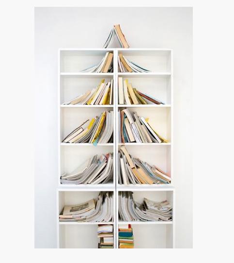 Bücher-Weihnachtsbaum