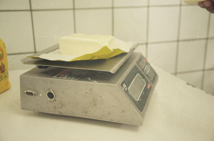 Butter-abwiegen