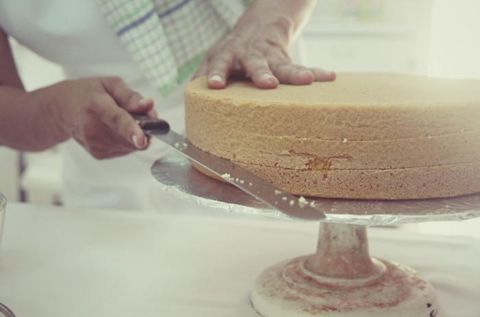 Cashew-Kuchen-Zubereitung