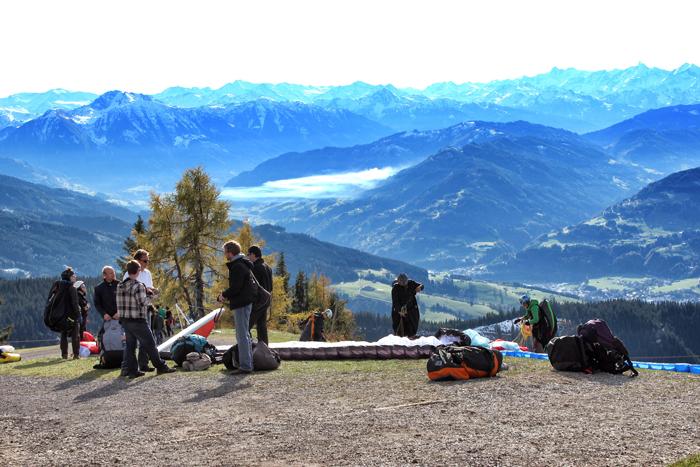 Paragliden-Berge