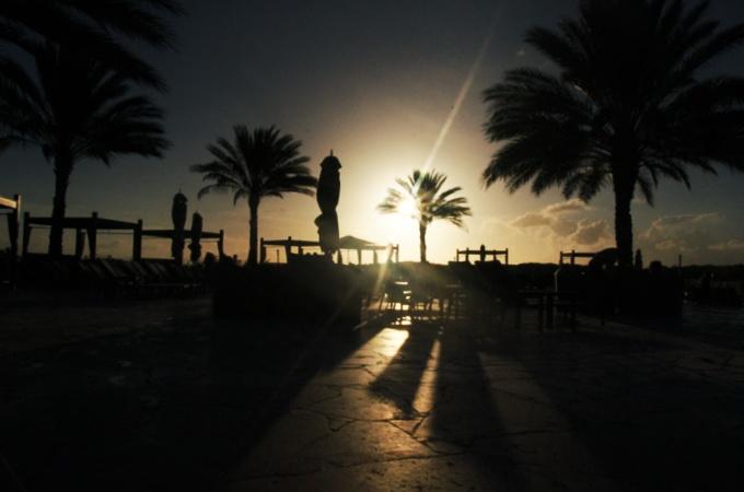 Sonnenuntergang-Santa Barbara Resort
