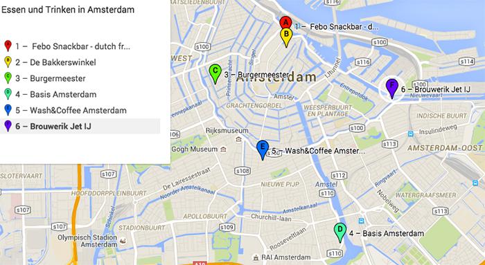 Essen und Trinken in Amsterdam