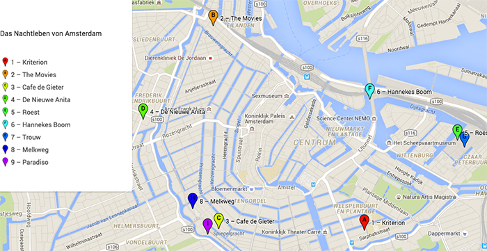 Nachtleben von Amsterdam
