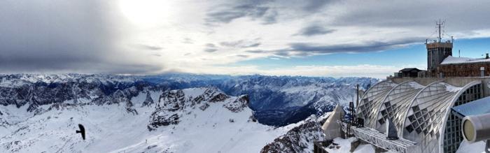 Panoramablick-Zugspitze
