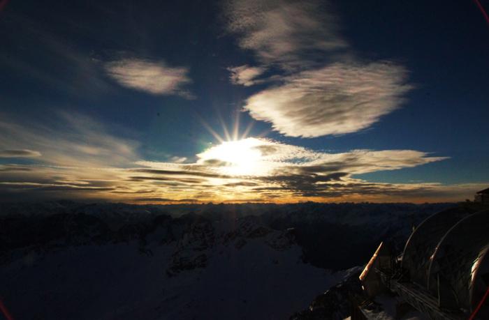 Sonnenuntergang-Zugspitze