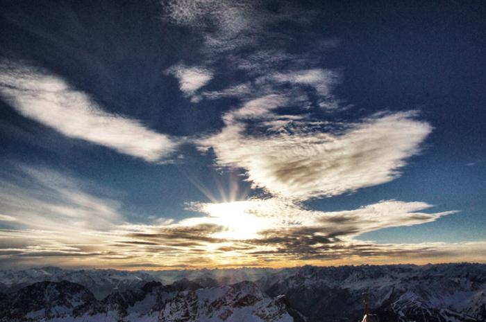 Sonnenuntergang-auf-der-Zugspitze