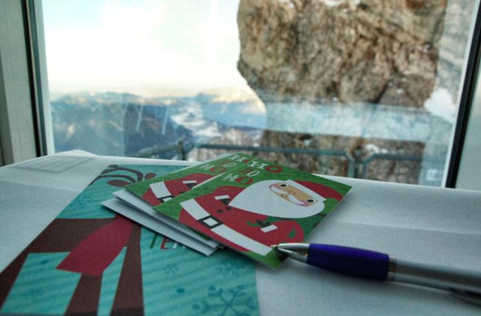 Weihnachtskarten-Zugspitze