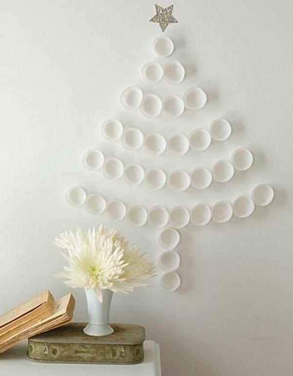 Unechte Weihnachtsbäume-Plastikbecher