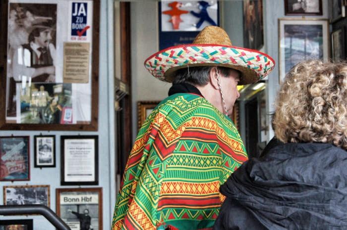 Mit Sombrero in der Stäv