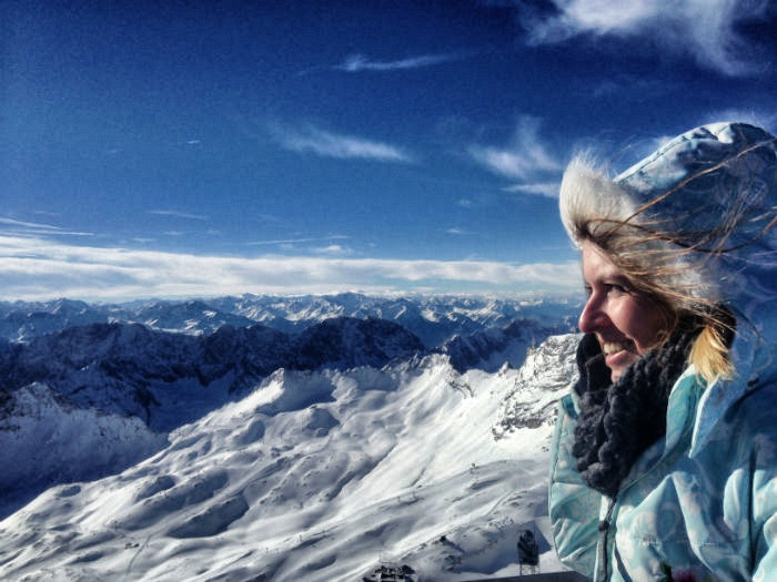 Skifahren auf der Zugspitze - Christine Neder