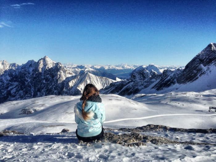 Skifahren auf der Zugspitze - Christiner Neder Ausblick