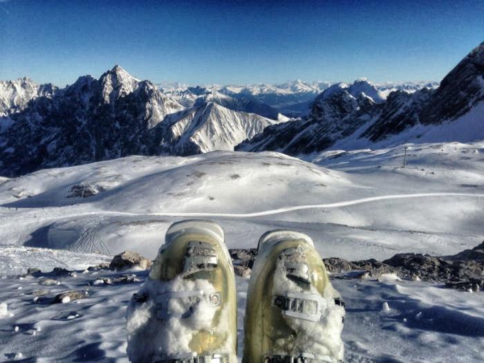 Skifahren auf der Zugspitze - Skischuhe