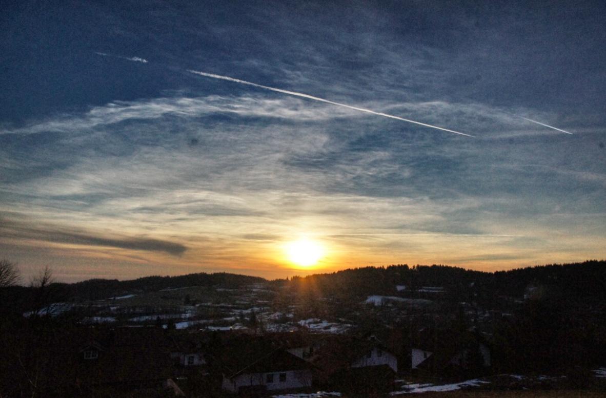 Sonnenuntergang-bayerischer-Wald