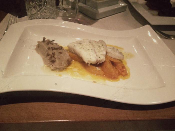 Fisch im Miramonti Hotel in Hafling
