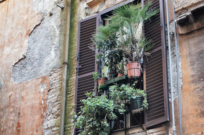 Balkonkunst in Rom
