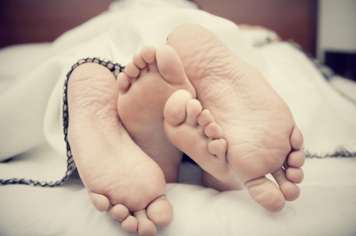 Füße-Bett