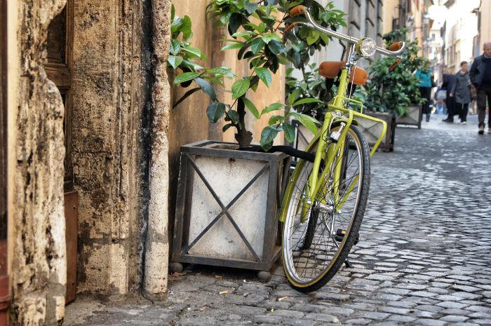 Fahrrad in Rom