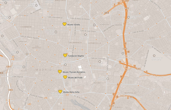 Madrid-Museen-Karte