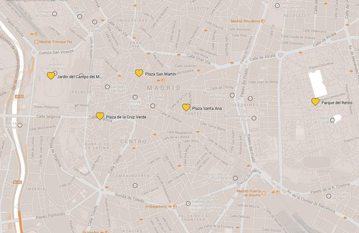 Madrid-Parks-Karte