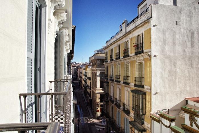 Only You Hotel Madrid Blick vom Balkon