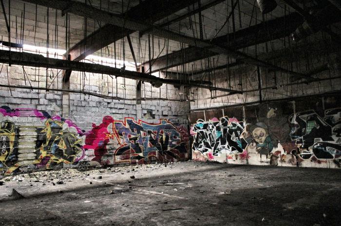 Teufelsberg Grafitti innen