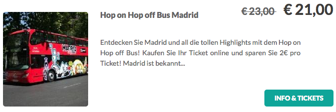 Hop On Hop Off Tour Madrid