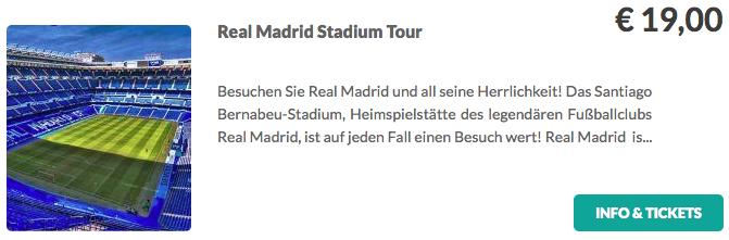 Real Madrid Stadion Tour