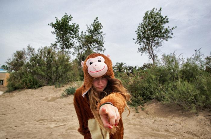 Kostüm-Affe