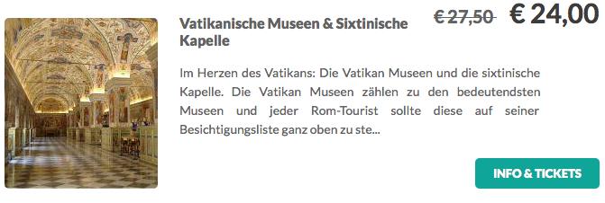 Vatikanisches Museum und Sixtinische Kapelle