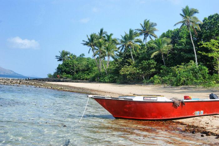Boot auf den Fidschi Inseln