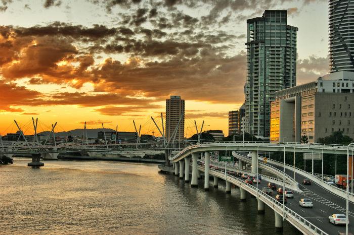 Brisbane Sonnenuntergang