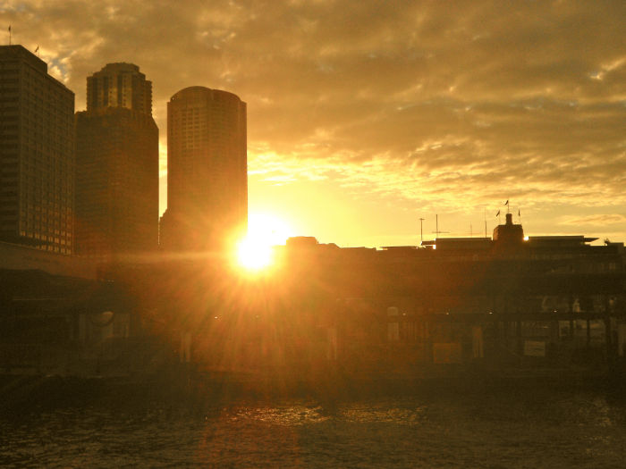 Sonnenuntergang Harbour