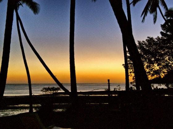 Sonnenuntergang auf den Fidschi Inseln