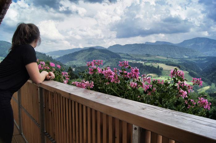 Auf dem Balkon der Allgäu Sonne