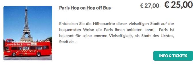 Paris Hop on Hop off Tour