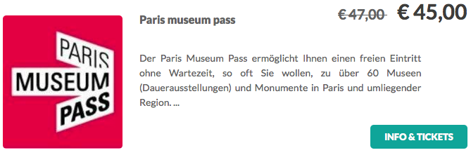 Paris Museums Pass