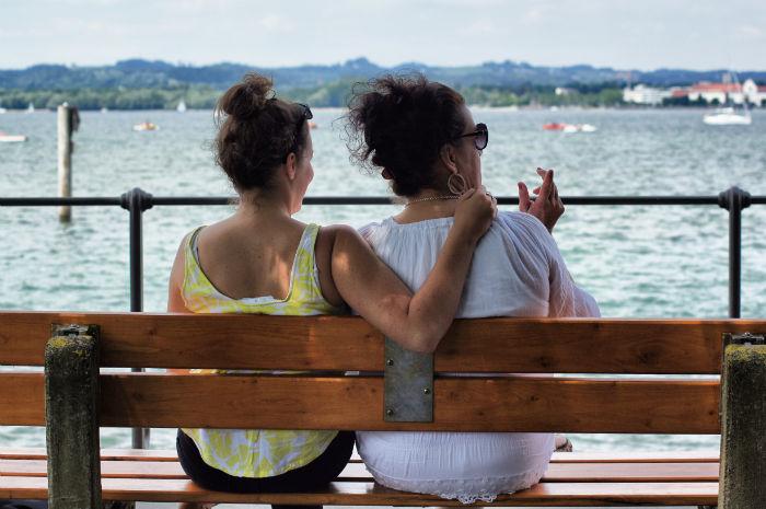Wir zwei am Bodensee