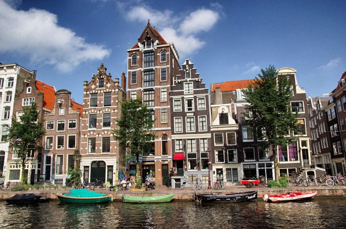 Amsterdam-Häuserfassaden