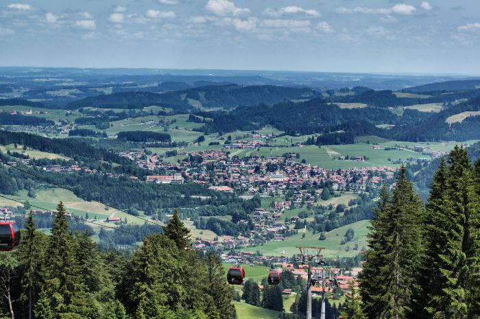 Aussicht über Oberstaufen